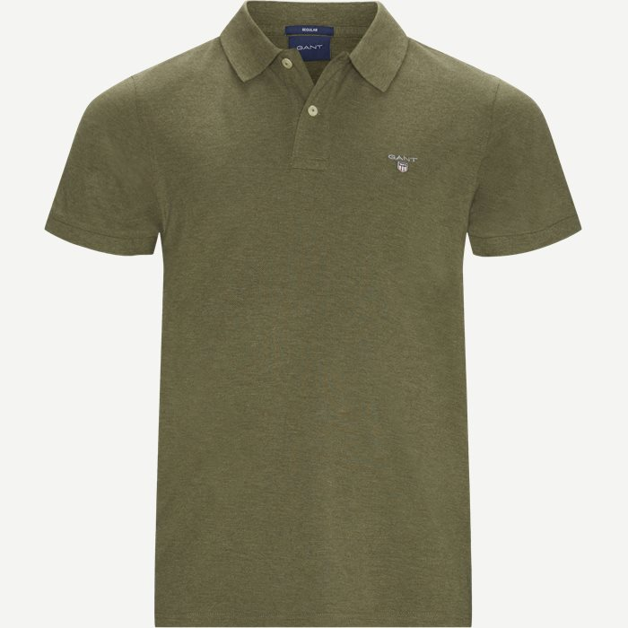 The original Pique SS Rugger Polo T-shirt - T-shirts - Regular - Grøn